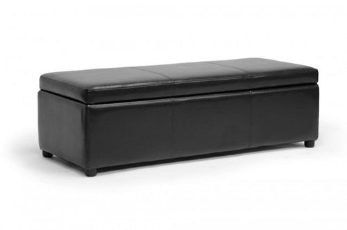 Dennehy Black Storage Ottoman Bench