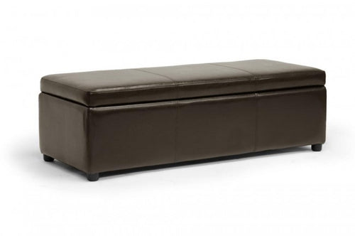 Dennehy Dark Brown Storage Ottoman Bench