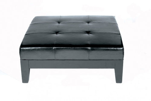 Tullio Black Leather Cocktail Ottoman