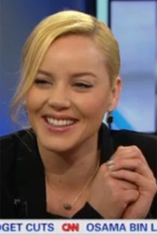 Nashville star Hayden Panettiere wearing Pave Hoop- Lt. Topaz crystal by Pame Designs on Access Hollywood