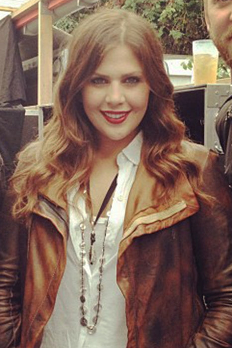 Hillary Scott from Lady Antebellum wearing Pame Signature Lariat on tour in Munich