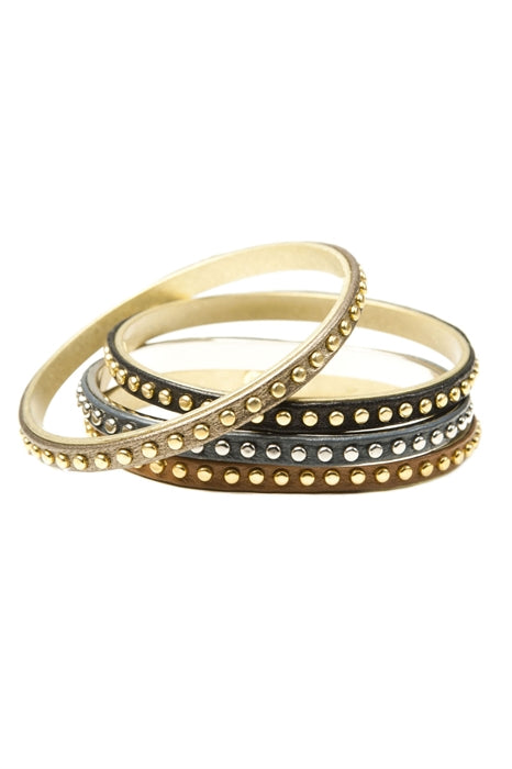 Hillary Scott from Lady Antebellum wearing Pame Studded Leather Bangle