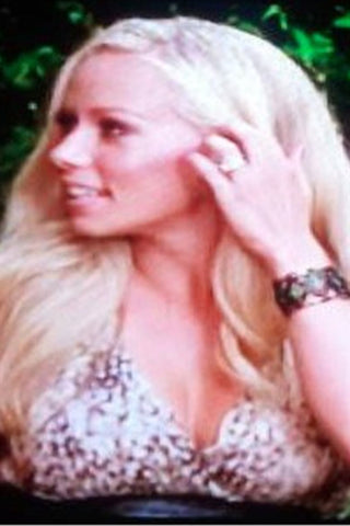 Kristina Guerrero from E! News wearing ZIg Zag Bangle in silver oxidized by Pame Designs