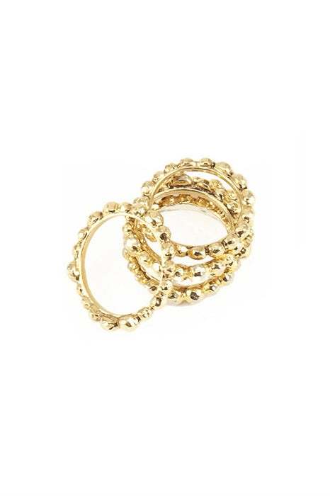 Pelota Stackable Rings-14kt Gold