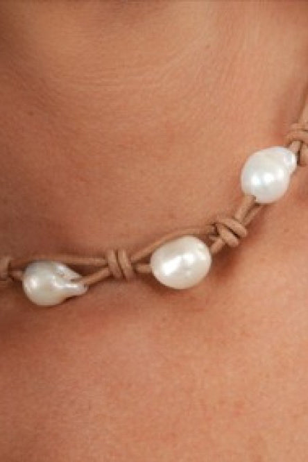 Triple Fresh Water Baroque Pearl Choker