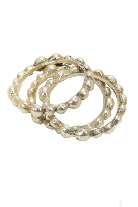 Pelota Stackable Rings-Sterling Silver