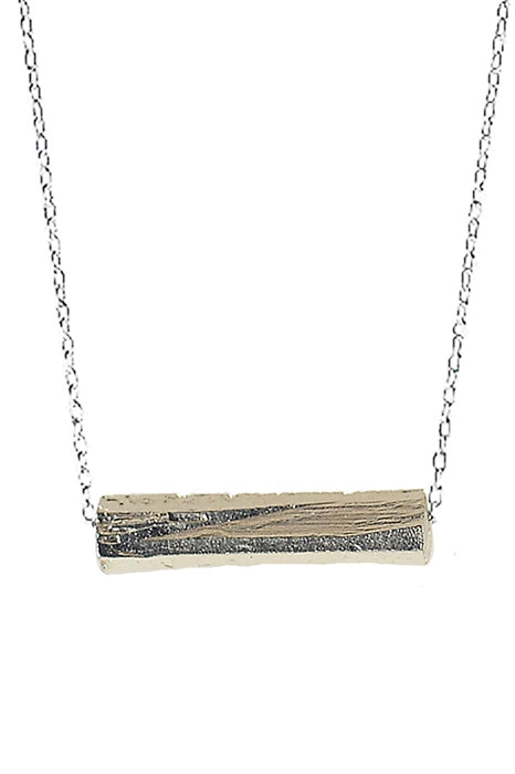 Chiseled Bar-Sterling Silver