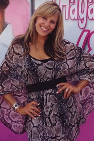 Josie Maran wearing Pame Brass Signature Necklace in Redbook 2012