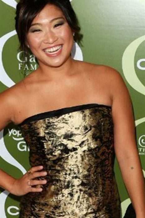 "Jenna Ushkowitz from ""Glee"" wearing Gold Bar Ring"