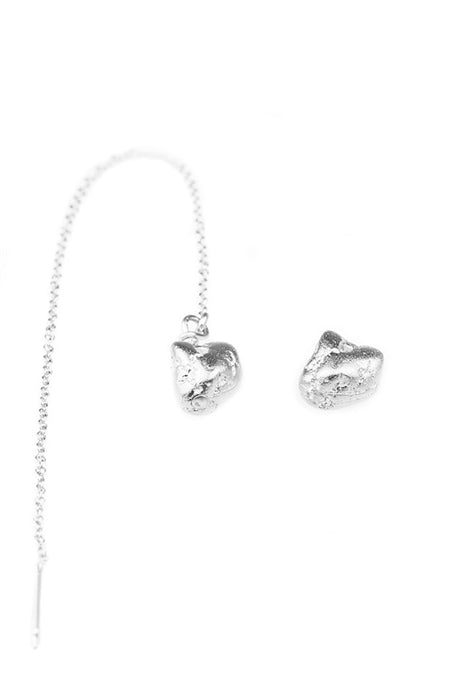 Baby Nugget Sterling Silver Earrings