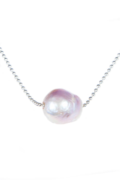 Pinkish Fresh Water Pearl & Chain