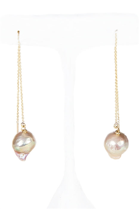 Pink Baroque Pearl Drop