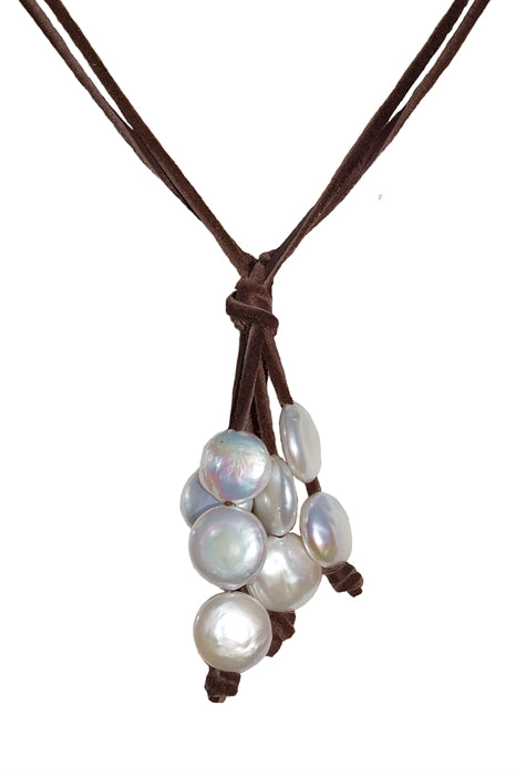 Coin Pearl Lariat
