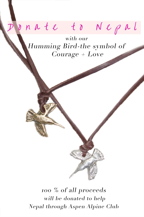 Hummingbird Necklace- Help Nepal