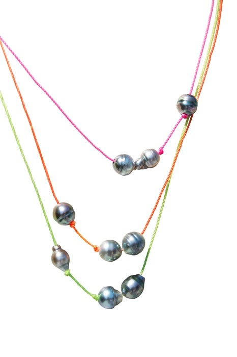 Ultraviolet Tahitian Pearl Necklace