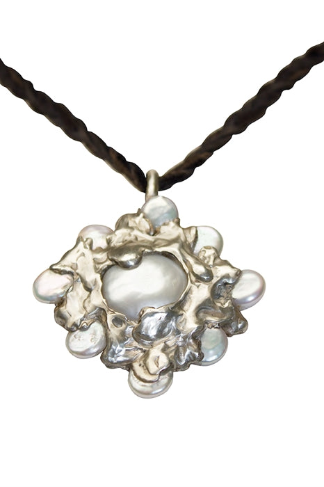 Sculptured Pearl Pendant