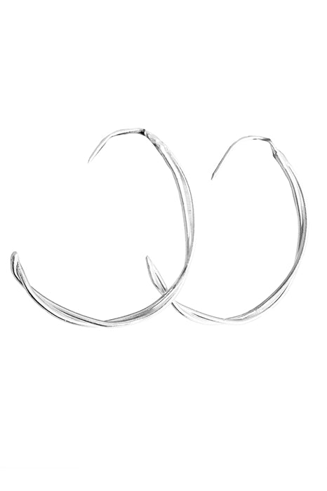 Silver Spiral Hoops