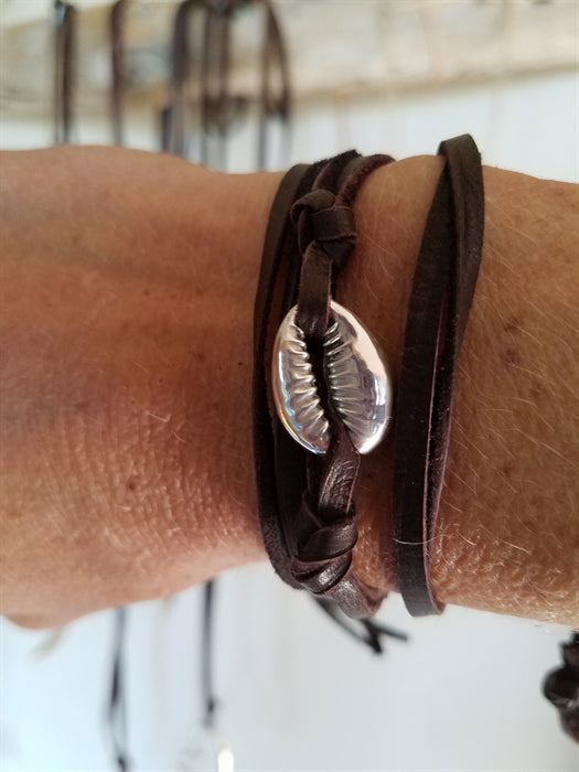 Cowrie Shell Wrap - Sterling Silver