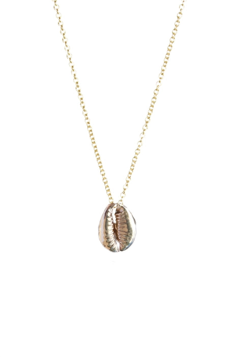 Cowrie Shell Necklace - 14kt Gold Chain