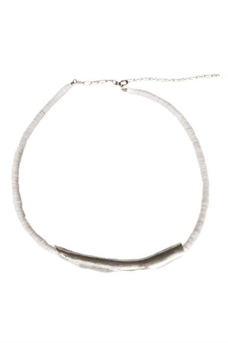 Sculptured Clam Shell Necklace- Sterling Silver