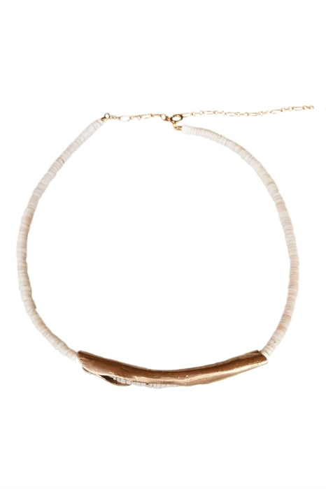 Sculptured Clam Shell Necklace- 14kt Rose Gold