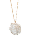 Sculptured Clam Shell Necklace- 14kt Gold