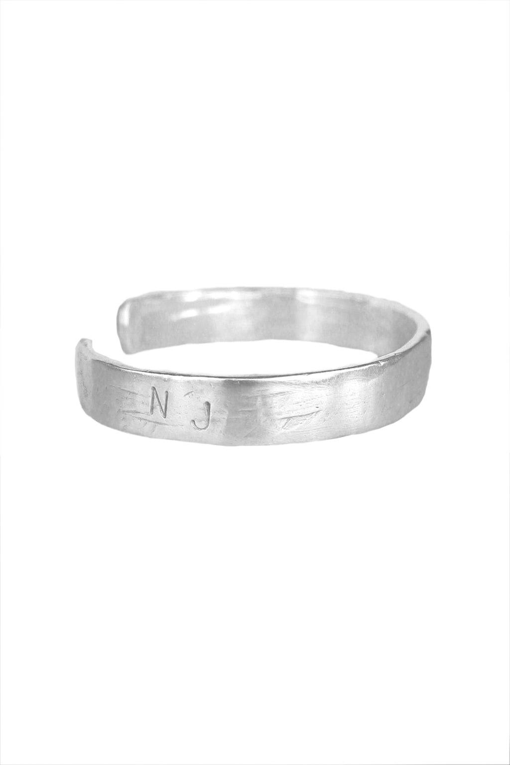 Hammered Initial Cuff-Sterling Silver