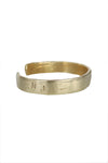 Hammered Initial Cuff-Brass