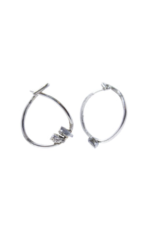 Lightning Bolt Single Hoop Earring