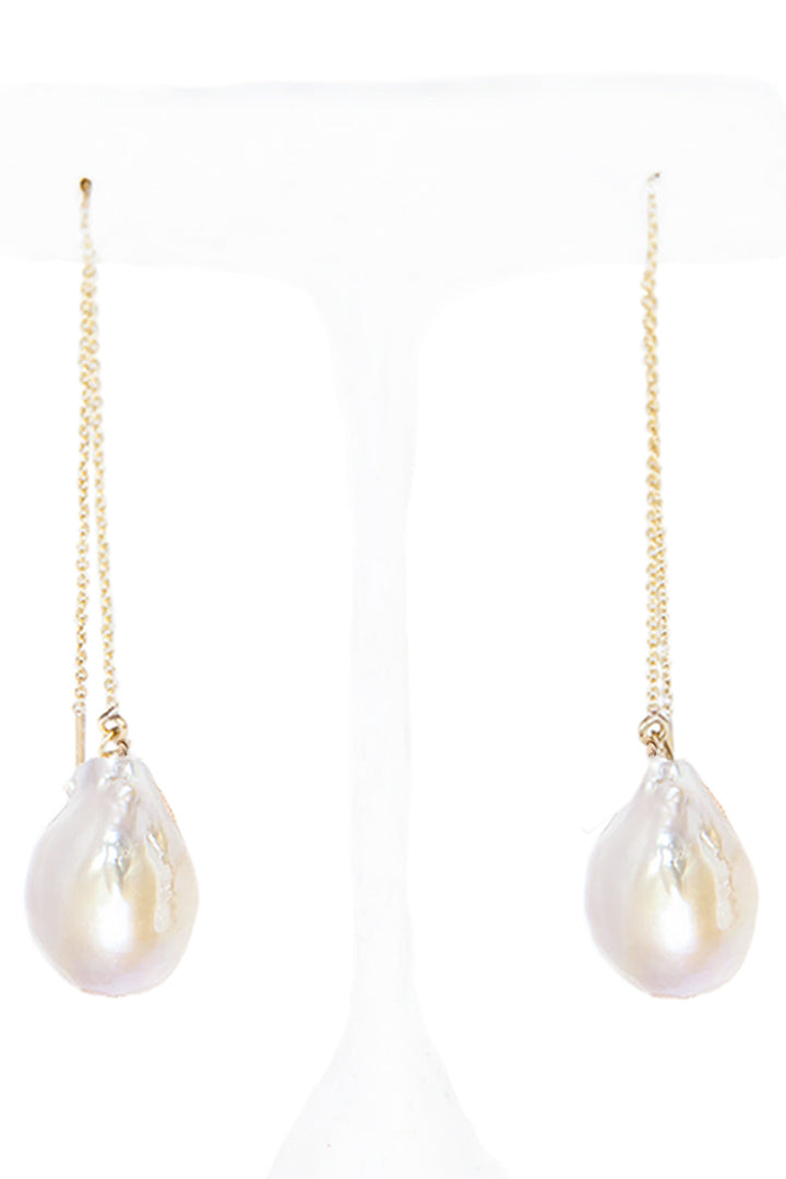 White Baroque Pearl Drop