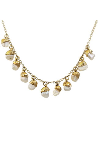 Cowrie Shell Necklace - 14kt Gold