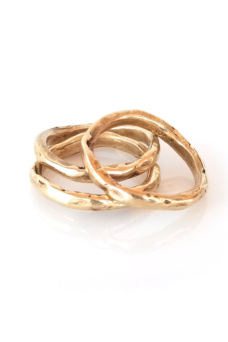 Rell Sun Ring - Brass