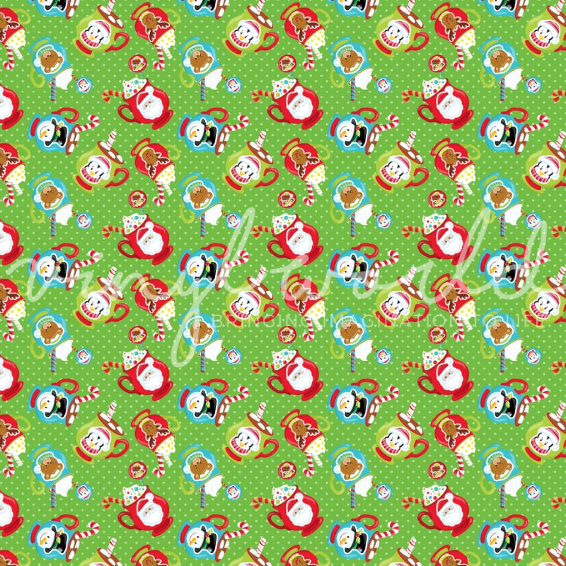 Vinyl World Pattern - Christmas Collection
