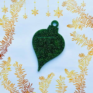Teardrop Acrylic Christmas Bauble