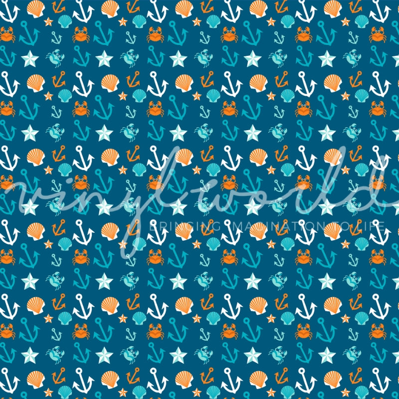Vinyl World Pattern - Nautical Collection