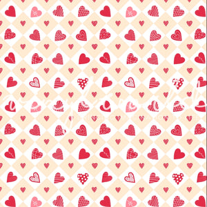 Vinyl World Pattern - Valentines Day Collection