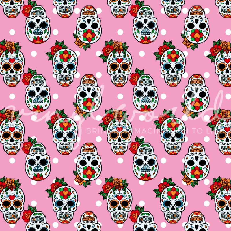 Vinyl World Pattern - Sugar Skull Collection