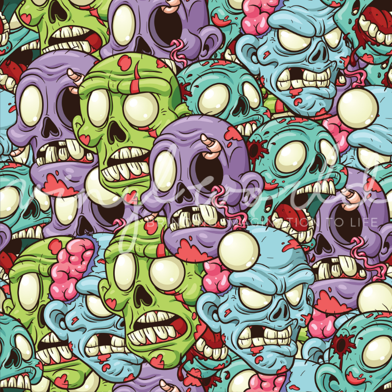 Vinyl World Pattern - Zombie Collection