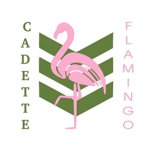 Cadette Green and Flamingo Pink - SVG File