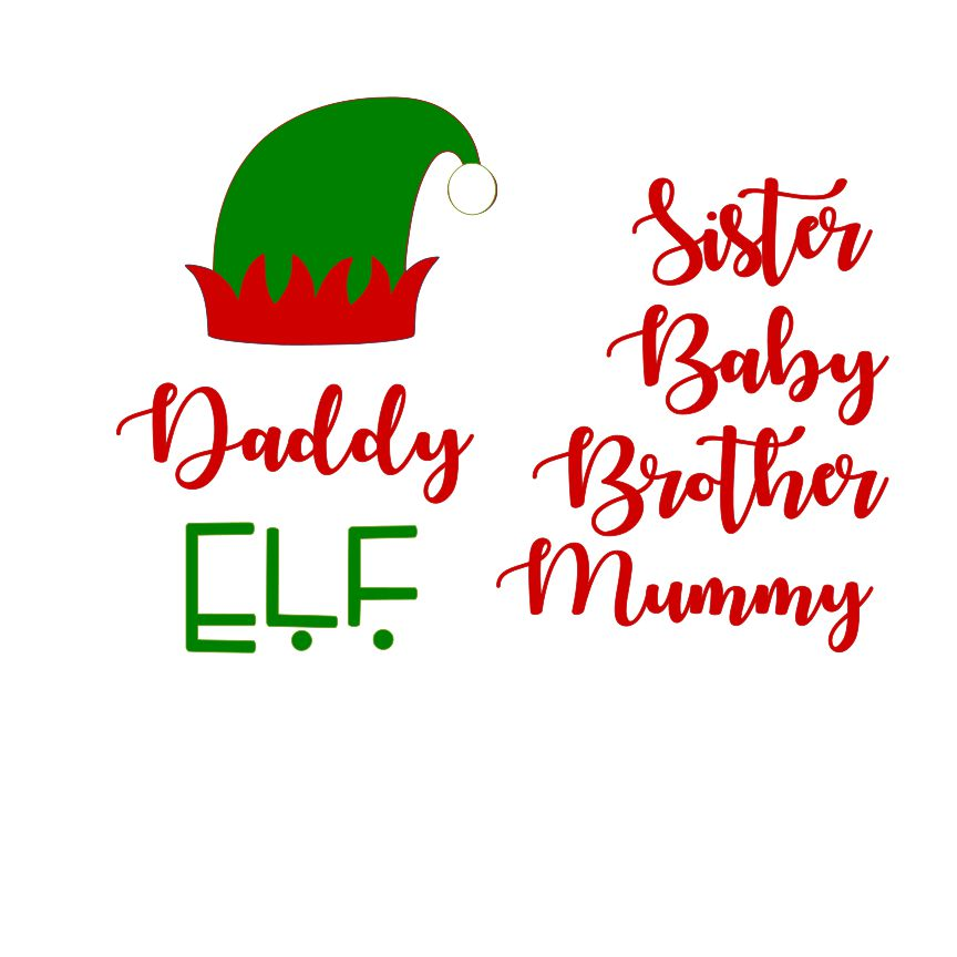 DAY 21 - Family Elf SVG File