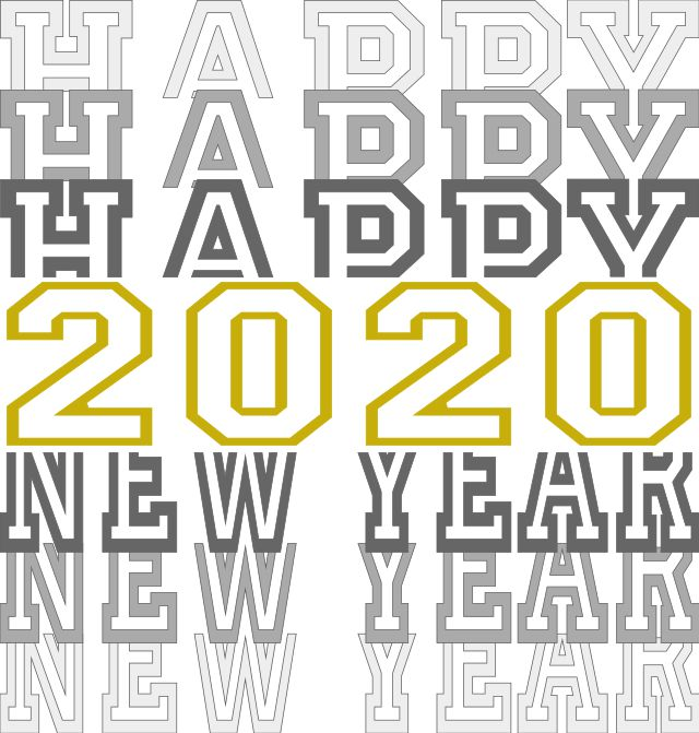 Happy New Year 2020 SVG File