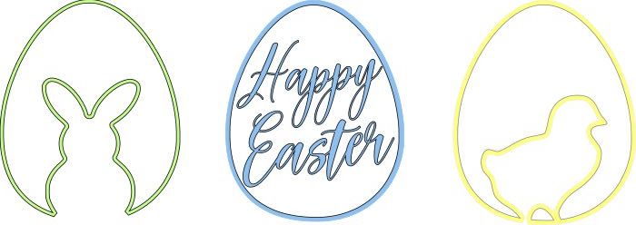Happy Easter Eggs SVG File