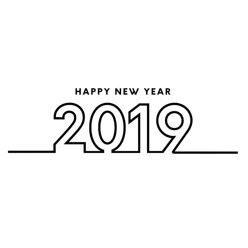 Happy New Year 2019 SVG File