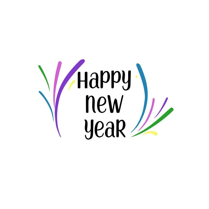 Happy New Year SVG File