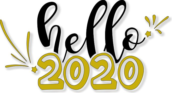 Hello 2020 SVG File