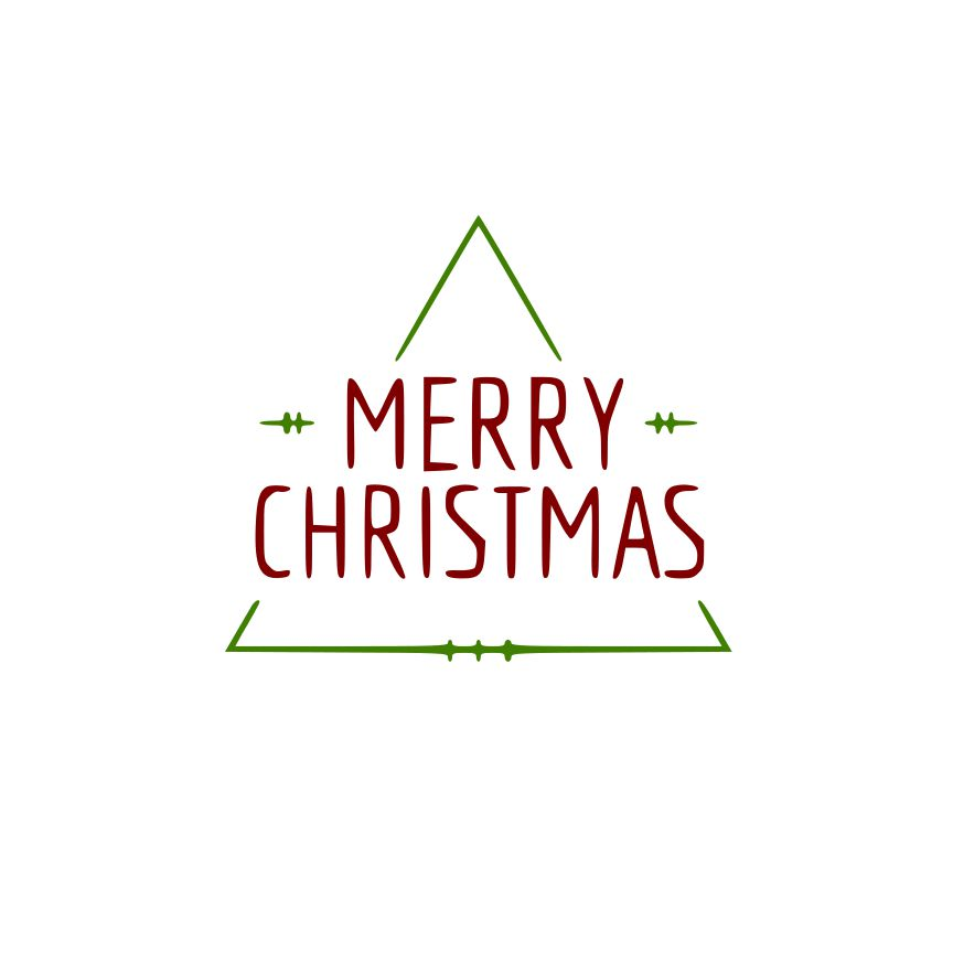 DAY 9 - Tri Merry Christmas SVG File