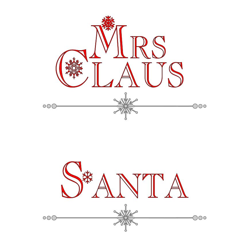 DAY 1 - Mr and Mrs Claus SVG File