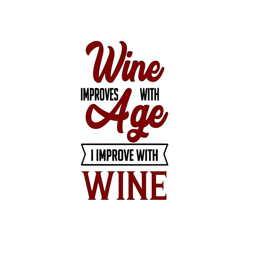 Wine improves with age SVG File