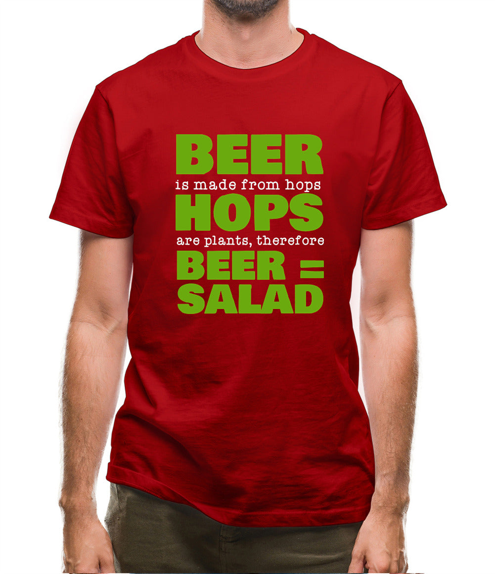 Beer = Salad Mens T-Shirt