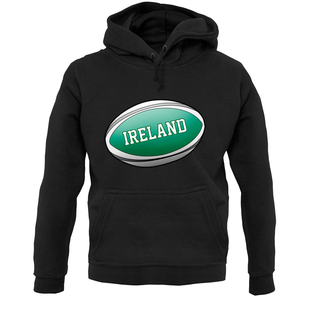 Irish Flag Rugby Ball Unisex Hoodie